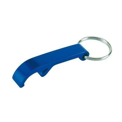 DOLPHIN BOTTLE OPENER KEYRING RING in Blue